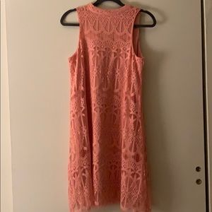 🔥NWT Love, Fire Mock Neck Lace Trapeze Dress 👗